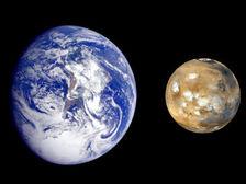 Первые живые организмы могли прилететь к нам с Марса на метеорите ((фото NASA). )