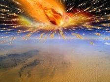 28 миллионов лет назад над поверхностью северо-восточной Африки взорвалась комета ((иллюстрация Terry Bakker).)