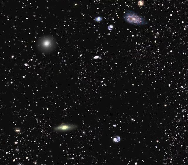 Самая подробная карта Вселенной поможет астрономам лучше понять природу и роль тёмной материи и тёмной энергии (иллюстрация SDSS-III).