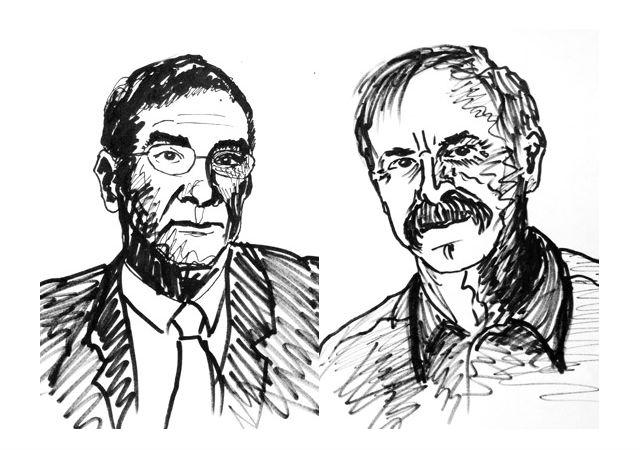 Серж Арош и Дэвид Вайнлэнд (иллюстрации 2012 The Nobel Committee for Physics).