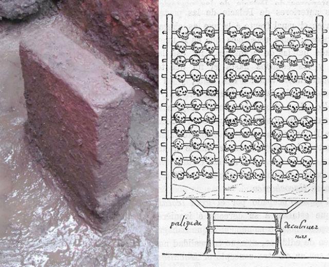 Камень для ритуальных жертвоприношений (фото Héctor Montaño/INAH).
