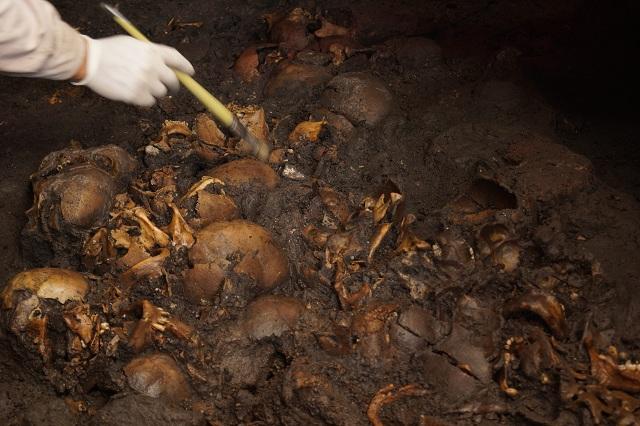 Возраст захоронения составляет, по меньшей мере, 500 лет (фото Héctor Montaño/INAH).