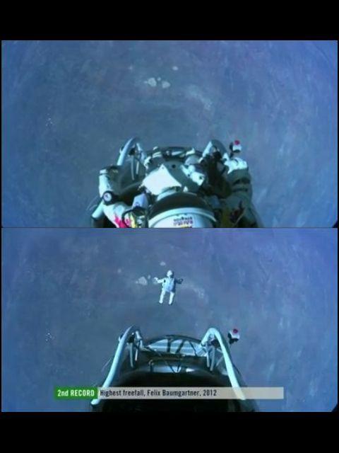 Вид на Землю с высоты 39 километров (кадр из видео Red Bull Stratos).