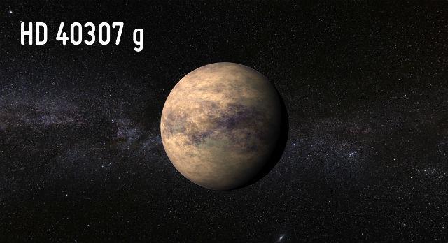 Планета HD 40307g в представлении художника (иллюстрация PHL/UPR Arecibo).