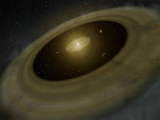 Художественное изображение системы PDS 70(иллюстрация NAOJ) .
