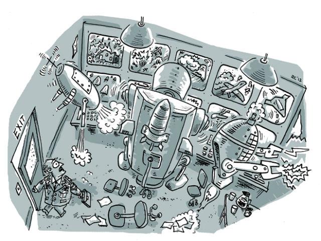 Иллюстрация Рассела Кристиана специально для доклада Human Rights Watch (иллюстрация Russell Christian).