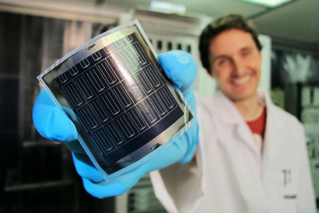 Простой в производстве плёночный фотоэлемент от лаборатории Empa с эффективностью 20,4% (фото Empa).