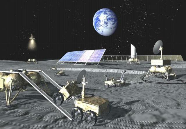 Так может выглядеть российская база на Луне, которую планируется возвести к 2037 году (иллюстрация ESA).