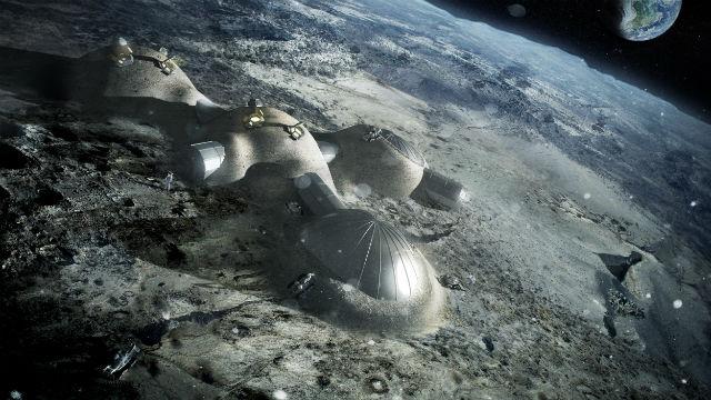 Проект модульной лунной базы, построенной с использованием технологии 3D-печати (иллюстрация ESA/Foster + Partners).