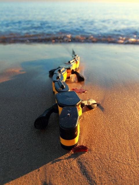 Искусственная саламандра-робот имеет сложную механику движения: использует лапы и извивается всем телом (фото Kostas Karakasiliotis, Biorobotics Laboratory, EPFL).
