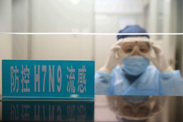 В госпитале в Шанхае предупреждают об опасности нового вируса гриппа для человека (фото Ray Young/EPA).
