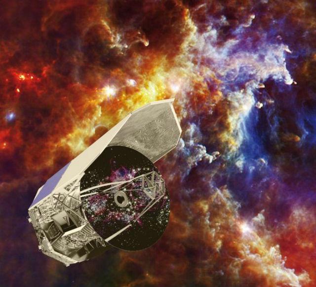 """Открытие было сделано, в первую очередь, благодаря чувствительности телескопа """"Гершель"""", который закончил свою работу в конце апреля 2013 года (иллюстрация C. Carreau/European Space Agency)."""