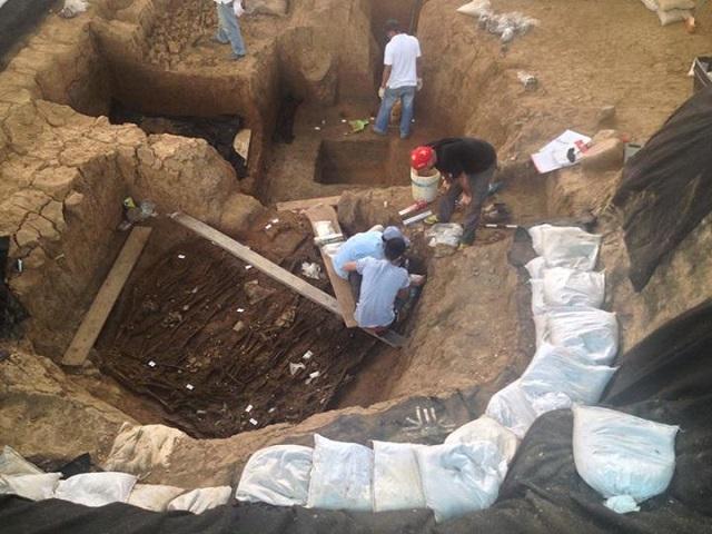 Захоронение, в котором покоились останки по меньшей мере трёх десятков человек имеет возраст более 1100 лет (фото Fundacion El Cano).