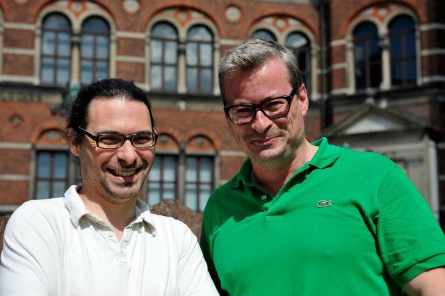 Ведущие авторы исследования Людовик Орландо и Эске Виллерслев (фото Uffe Wilken).