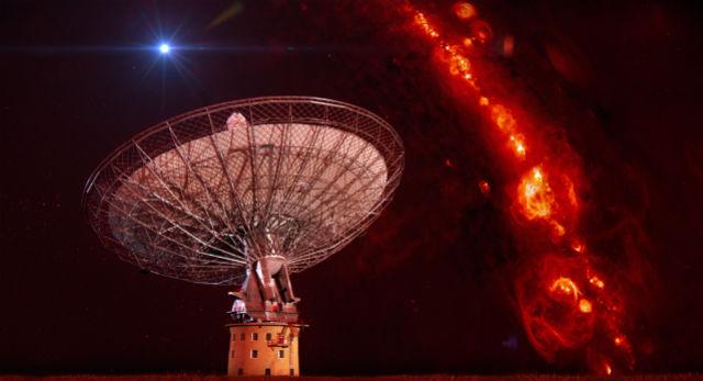 Источником мощных вспышек радиоизлучения, могла быть нейтронная звезда (фото, иллюстрация Swinburne Astronomy Productions).