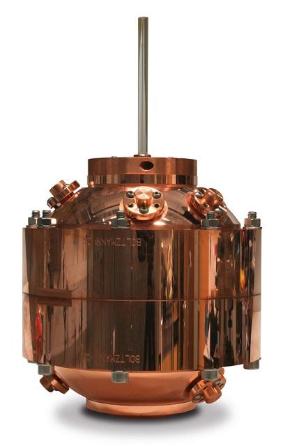 Акустический резонатор – медный сосуд с аргоном, через который в процессе эксперимента пропускали звук разной частоты (фото Michael de Podesta/National Physical Laboratory).