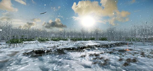 Так выглядел бы день зимнего солнцестояния из описанной британцами ямы-календаря (иллюстрация Eugene Ch'ng, Eleanor Ramsey, Vincent Gaffney).