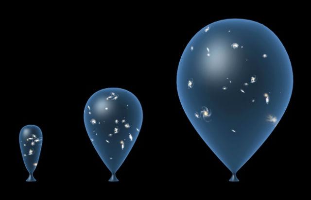 Космологи любят сравнивать Вселенную с надувающимся воздушным шариком. Так проще всего объяснить теорию расширения (иллюстрация TAKE 27 LTD/SPL).