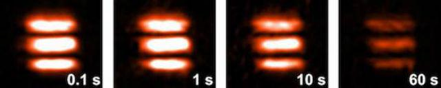 Изображение трёх горизонтальных полос, созданное учёными (фото Technischen Universität Darmstadt).