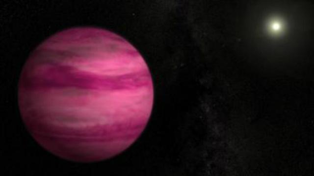 Недавно обнаруженная экзопланета GJ 504b по массе примерно в 4 раза больше Юпитера, что делает её самой лёгкой планетой, когда-либо вращавшейся вокруг звезды, подобной Солнцу (иллюстрация NASA's Goddard Space Flight Center/S. Wiessinger).