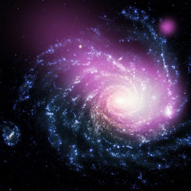 Гигантское облако горячего газа, удалённое на 60 миллионов световых лет от Земли, образовалось, скорее всего, вследствие столкновения двух галактик (фото NASA, Chandra X-ray Observatory).