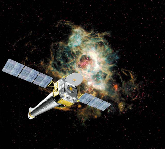 Телескоп Чандра работает с рентгеновским излучением и может запечатлеть раскалённые объекты, вроде облаков газа (иллюстрация NASA).