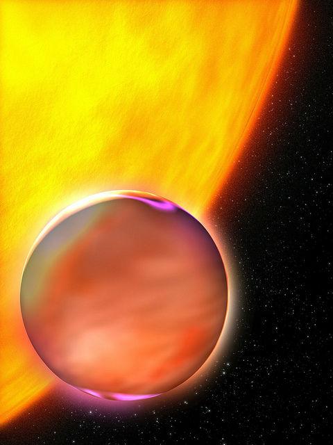 Близко расположенные к своей звезде экзопланеты должны состоять из очень плотных материалов, вроде железа (иллюстрация NASA Blueshift/Flickr).