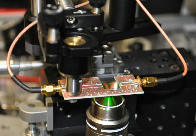 Физики рассмотрели квантовый эффект Зенона в микроскопическом алмазе (фото Oliver Benson).