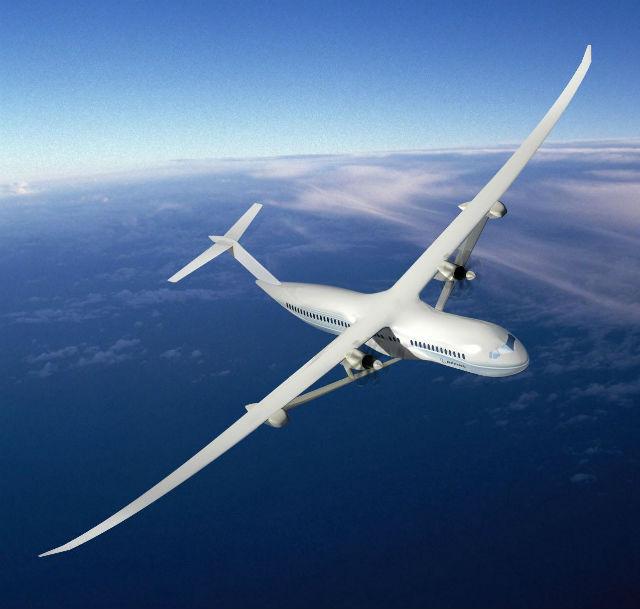 Самолёты и автомобили, созданные из металл-графена, станут прочнее и легче, а значит и количество расходуемого топлива заметно снизится (NASA/The Boeing Company).