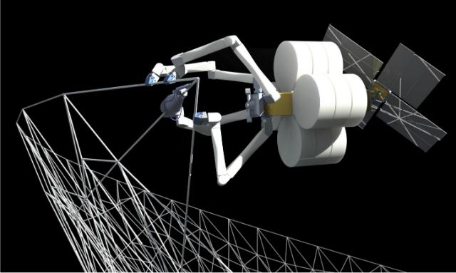Инженеры разрабатывают технологии, которые помогут прямо в космосе изготавливать солнечные батареи и несущие конструкции (иллюстрация TUI).