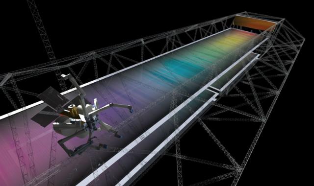 Элементы будущих систем и исходные материалы будут доставляться с Земли на орбиту в компактном состоянии, но с помощью технологий SpiderFab они превратятся в гигантские космические конструкции (иллюстрация TUI).