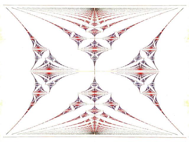Фрактальная структура бабочки Хофштадтера (иллюстрация Douglas Hofstadter/Wikimedia Commons).