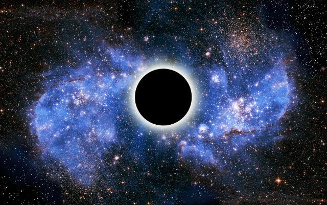 Рождение нашей Вселенной могло быть следствием смерти четырёхмерной звезды (иллюстрация Victor De Schwanberg/Science Photo Library).