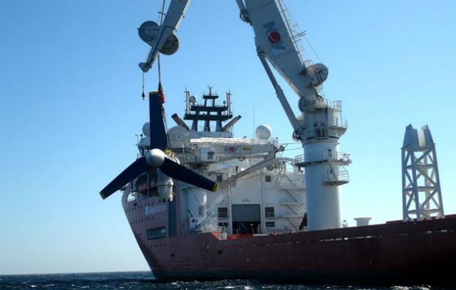 Каждая турбина составляет 22,5 метра в длину и весит 1500 тонн (фото Atlantis Resources).