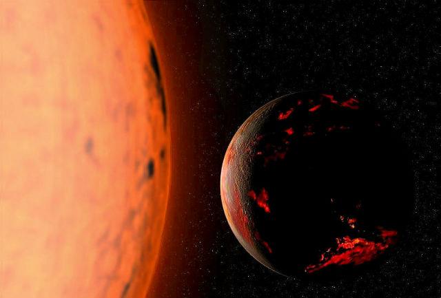 Через 1,75 миллиарда лет Земля выйдет из обитаемой зоны, а через 5-7 миллиардов лет превратится в уголёк, сжигаемый Солнцем (иллюстрация Fsgregs/Wikimedia Commons).