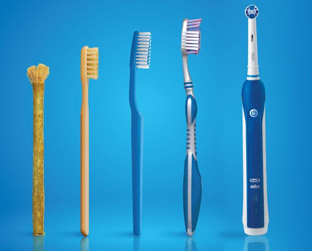 Зубная электрическая щетка не вращательная