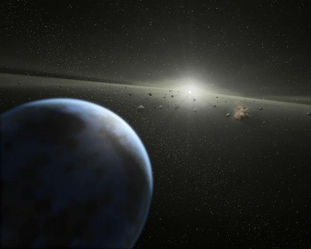 Колыбелью жизни может быть астероидный пояс (иллюстрация NASA/JPL-Caltech).