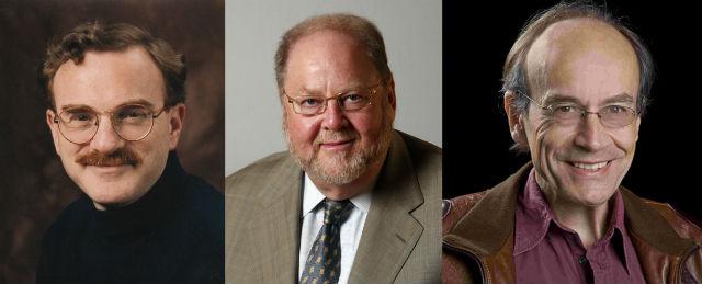 Лауреатами Нобелевской премии по физиологии и медицине 2013 года стали американцы Джеймс Ротман, Рэнди Шекман и немец Томас Зюдхоф (фото Allan Ramsay/vista.no, Prashant Nair и с сайта pnas.org).