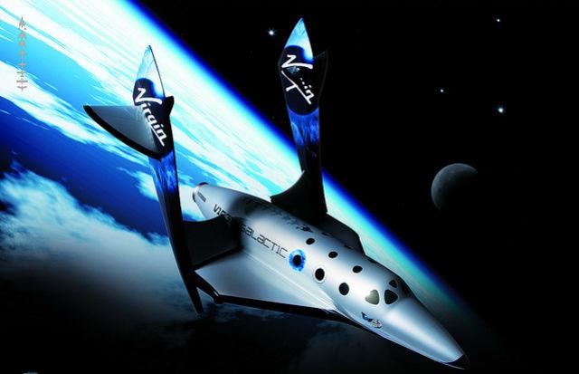 """Победитель """"Космической гонки"""" совершит суборбитальный полёт на корабле SpaceShipTwo (иллюстрация IrishFireside/Flickr)."""
