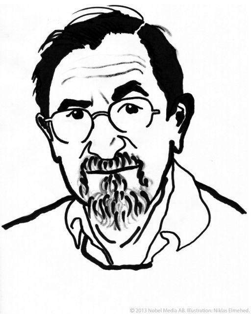 Портрет Мартина Карплуса, нобелевского лауреата по химии 2013 года (иллюстрация Nobel Media AB 2013 Illustration: Niklas Elmehed).