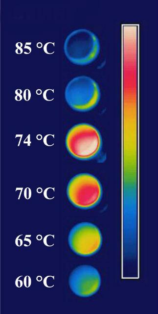 При повышении температуры диоксид ванадия превращался из изолятора в проводник и обратно, проявляя необычные оптические свойства (фото Mikhail Kats, Harvard SEAS).