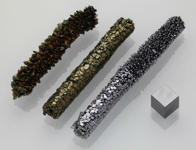 Ванадий (на фото) — пластичный металл, который при соединением с кислородом превращается в крайне необычный материал (фото Alchemist-hp/Wikimedia Commons).