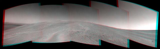 "Точка Соландера ""глазами"" марсохода Opportunity (фото NASA/JPL-Caltech/Cornell/ASU)."