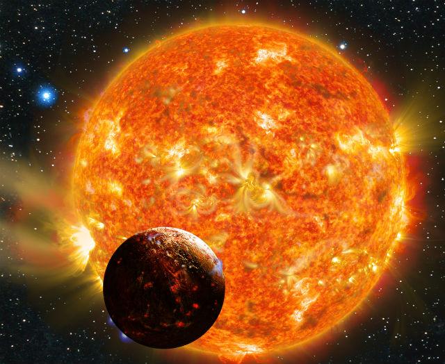 Согласно расчётам, Кеплер 78b должна состоять преимущественно из камней и железа (иллюстрация Karen Teramura).