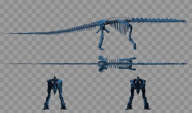 Модельный динозавр перемещался со скоростью 5 км/ч (изображение Bill Sellers/PLOS ONE).