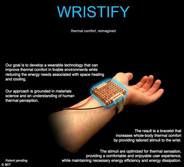 """Устройство проверяет температуру тела, а затем регулирует её, посылая к коже холодные или тёплые """"импульсы"""" (иллюстрация MIT)."""