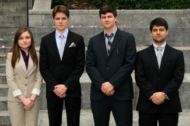 Команда, разработавшая Titan Arm: Элизабет Битти, Ник МакГилл, Ник Парротта и Нико Владимиров (фото Titan Arm).
