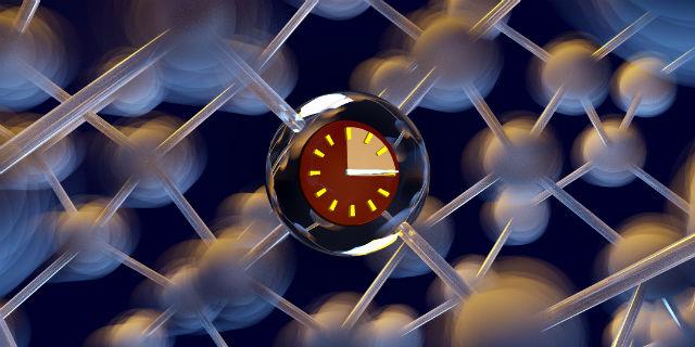 При температуре -269 °С спины ядер около 37% всех ионов оставались в состоянии суперпозиции на протяжении трёх часов, а при температуре 25 °С — на протяжении 39 минут (иллюстрация Karl G. Nyman/CC BY).