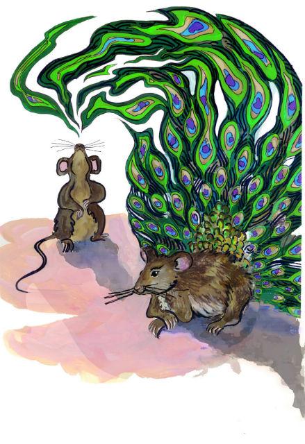 """Сексуальная привлекательность мышей, похоже, передаётся по наследству. Сыновья """"гулящих"""" матерей имеют больший спрос противоположного пола (иллюстрация Sarah Bush, University of Utah)."""