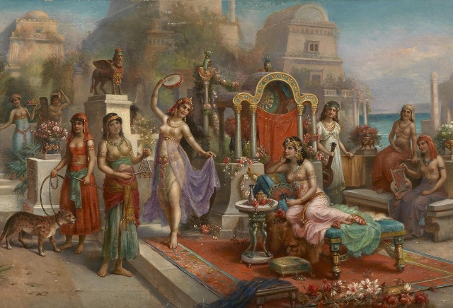 Царь Навуходоносор II посвятил сады своей супруге по имени Амитис (иллюстрация H.Waldeck/Wikimedia Commons).